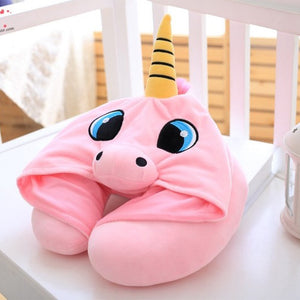 U Shape Unicorn Travel Pillow