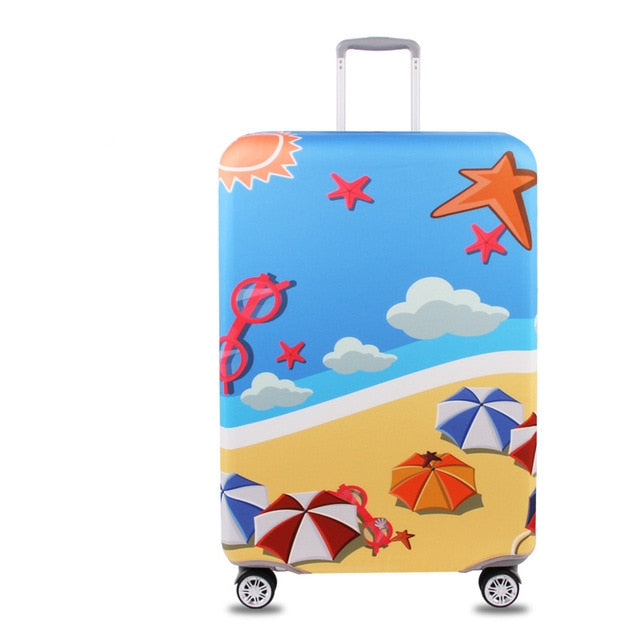 Suitcase Protective Cover Elastic Beach
