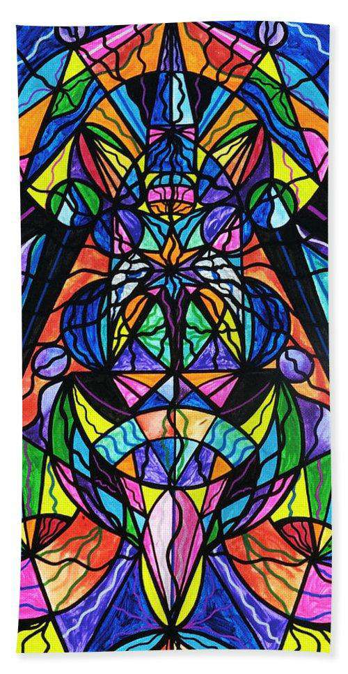 Arcturian Awakening Grid - Beach Towel