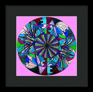 Pleiadian Integration Lightwork Model  - Framed Print