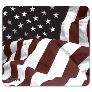 ESASP29302 - Naturesmart Mouse Pad, American Flag Design, 8 1-2 X 8 X 1-10