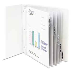 "ESCLI05557 - Sheet Protectors With Index Tabs, Heavy, Clear Tabs, 2"", 11 X 8 1-2, 5-st"