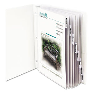 "ESCLI05587 - Sheet Protectors With Index Tabs, Clear Tabs, 2"", 11 X 8 1-2, 8-st"