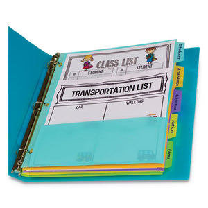 "ESCLI07650 - 5-TAB INDEX DIVIDERS WITH MULTI-POCKETS, 5-TAB, 11 1-2"" X 10"""