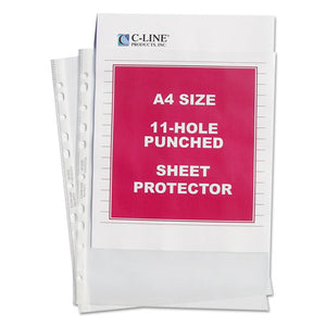 "ESCLI08037 - Standard Weight Poly Sheet Protector, Clear, 2"", 11 3-4 X 8 1-4, 50-bx"