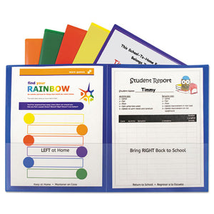 ESCLI32010 - Classroom Connector Folders, Assorted, 6-pk