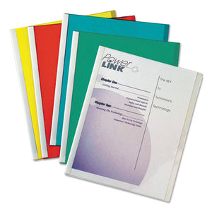 ESCLI32550 - Report Covers With Binding Bars, Vinyl, Assorted, 8 1-2 X 11, 50-bx