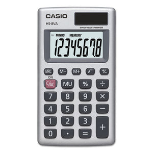 ESCSOHS8VA - Hs-8va Handheld Calculator, 8-Digit Lcd, Silver