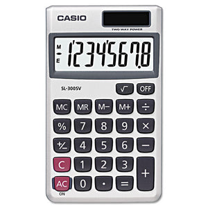 ESCSOSL300SV - Sl-300sv Handheld Calculator, 8-Digit Lcd