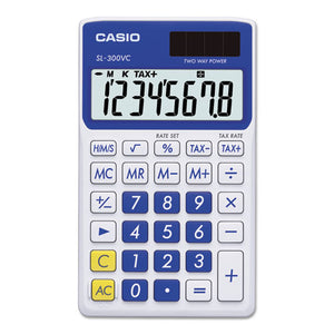 ESCSOSL300VCBE - Sl-300svcbe Handheld Calculator, 8-Digit Lcd, Blue