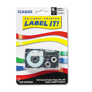 ESCSOXR18WES - Tape Cassette For Kl Label Makers, 3-4in X 26ft, Black On White