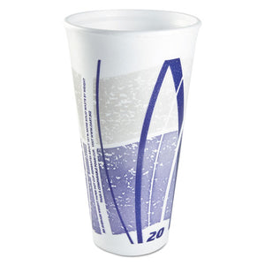 ESDCC20LX16E - Impulse Hot-cold Foam Drinking Cups, 20 Oz, White-blue-gray, 500-carton