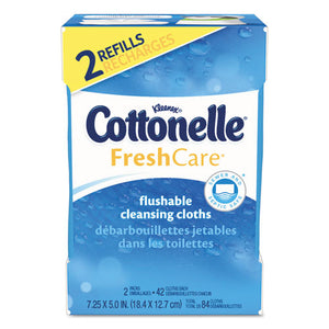 ESKCC35970CT - Fresh Care Flushable Cleansing Cloths, White, 3.73 X 5.5, 84-pack, 8 Pk-ctn