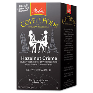 ESMLA75410 - COFFEE PODS, HAZELNUT CREAM, 18 PODS-BOX