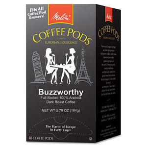ESMLA75412 - Coffee Pods, Buzzworthy (dark Roast), 18 Pods-box