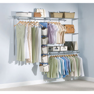 "ESRCP3G5902TITNM - CONFIGURATIONS CUSTOM CLOSET KIT, 5 SHELVES, 13.25"" X 2.562"" X 48.125"", SILVER"
