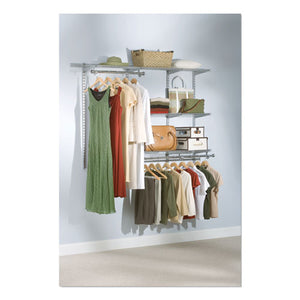 "ESRCP3H1102TITNM - CONFIGURATIONS CUSTOM CLOSET KIT, 5 SHELVES, 13.125"" X 2.5"" X 48.125"", SILVER"