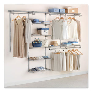 "ESRCP3H8900TITNM - CONFIGURATIONS CUSTOM CLOSET KIT, 9 SHELVES, 13.75"" X 3.125"" X 49.25"", SILVER"
