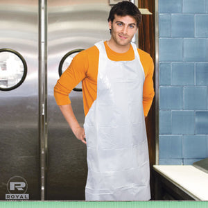 ESRPPDA2846 - Poly Apron, White, 28 In. X 46 In., 100-pack, One Size Fits All, 10 Pack-carton