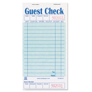 ESRPPGC36321 - Guest Check Book, 3 1-2 X 6 7-10, 50-book, 50 Books-carton