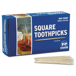 "ESRPPR820SQ - Square Wood Toothpicks, 2 3-4"", Natural, 800-box, 24 Boxes-carton"