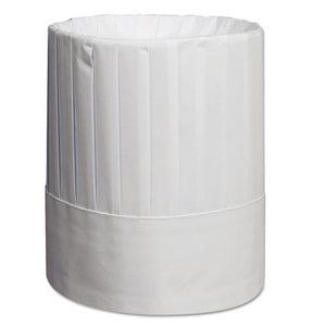 ESRPPRCH9 - Pleated Chef's Hats, Paper, White, Adjustable, 9 In Tall, 24-carton