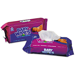 ESRPPRPBWUR80 - Baby Wipes Refill Pack, White, 80-pack, 12 Packs-carton