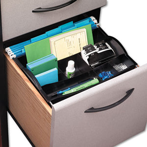 ESRUB11916ROS - Hanging Desk Drawer Organizer, Plastic, Black