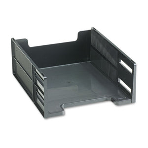 ESRUB17671 - Stackable High Capacity Front Load Letter Tray, Polystyrene, Ebony