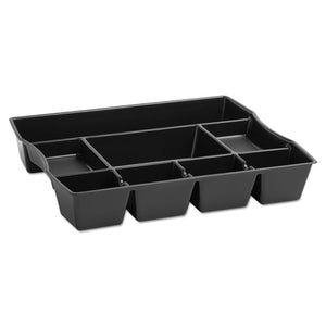 ESRUB21864 - Nine-Compartment Deep Drawer Organizer, Plastic, 14 7-8 X 11 7-8 X 2 1-2, Black