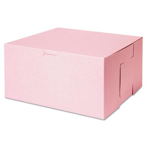 ESSCH0878 - Tuck-Top Bakery Boxes, 10w X 10d X 5h, Pink, 100-carton