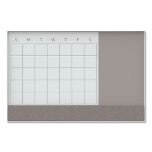 U Brands 3N1 Magnetic Glass Dry Erase Combo Board