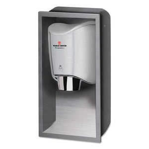 ESWRLKKR973 - Smartdri Hand Dryer Recess Kit, 15 X 4 X 25, Stainless Steel