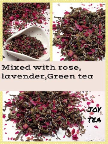 Green Tea - Joy Tea ( green tea lavender and rose petal)