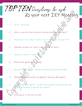 Questions for IEP | Digital Download | Unbreakable Sara