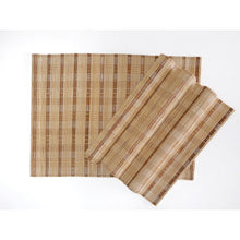 Load image into Gallery viewer, Handmade Wide Mix Natural Bamboo Placemats (Set of 4)