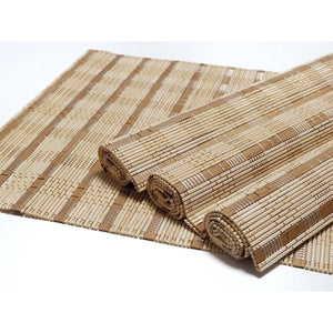 Handmade Wide Mix Natural Bamboo Placemats (Set of 4) - Meraki Cole Company