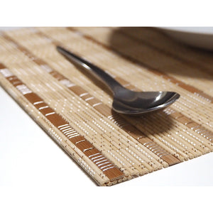 Handmade Wide Mix Natural Bamboo Placemats (Set of 4)