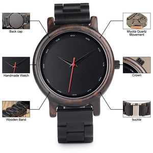 Bamboo Dark Wooden Watch for Men