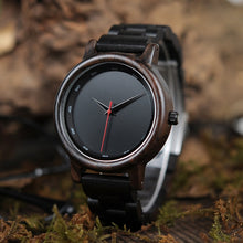 Load image into Gallery viewer, Bamboo Dark Wooden Watch for Men