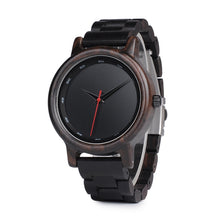 Load image into Gallery viewer, Bamboo Dark Wooden Watch for Men - Meraki Cole Company