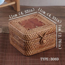Load image into Gallery viewer, Woven Rattan Tea Storage Box - Meraki Cole Company