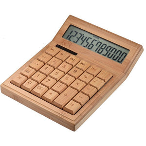 Solar Powered Electric Bamboo Calculator - Meraki Cole Company