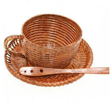 Load image into Gallery viewer, Vintage Bamboo Woven Coffee Cup (3 Piece Set) - Meraki Cole Company