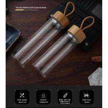 Load image into Gallery viewer, Portable Reusable Glass Water Bottle - Meraki Cole Company