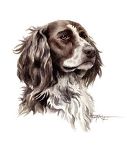 Load image into Gallery viewer, A English Pointer portrait print based on a David J Rogers original watercolor