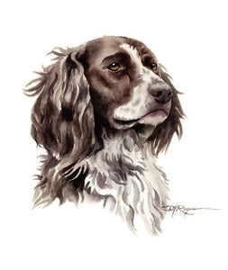 A English Pointer portrait print based on a David J Rogers original watercolor