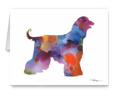 A Afghan Hound 0 print based on a David J Rogers original watercolor