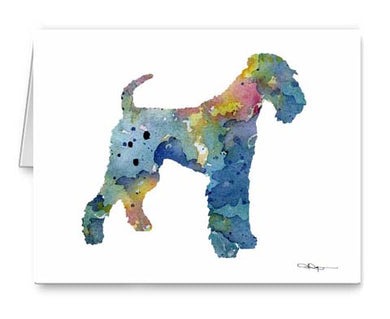 A Airdale Terrier 0 print based on a David J Rogers original watercolor