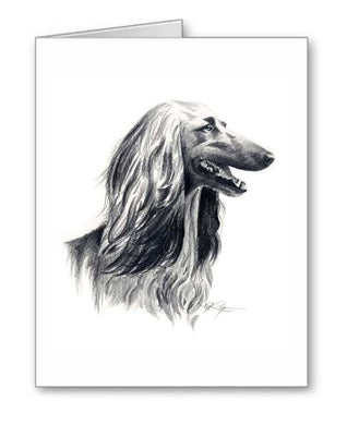 A Afghan Hound portrait print based on a David J Rogers original watercolor
